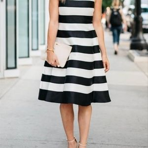 Adrianna Pappell Striped Flare Sheath dress